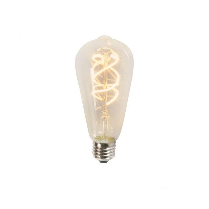 Lampadina-a-LED-filamento-a-spirale-5W-ST64-2200K-trasparente