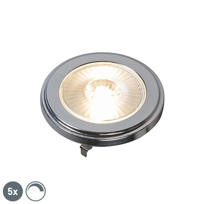 Set-di-5-lampadine-regolabili-G53-AR111-LED-10W-800LM-3000K.