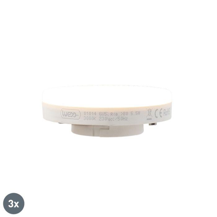 Set-di-3-lampadine-a-LED-GX53-5,5-W-470-lumen-3000K