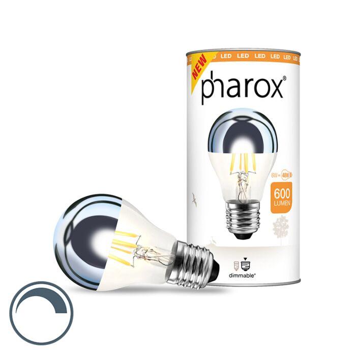 Specchio-con-testa-a-LED-dimmerabile-E27-Pharox-6W-600-lumen