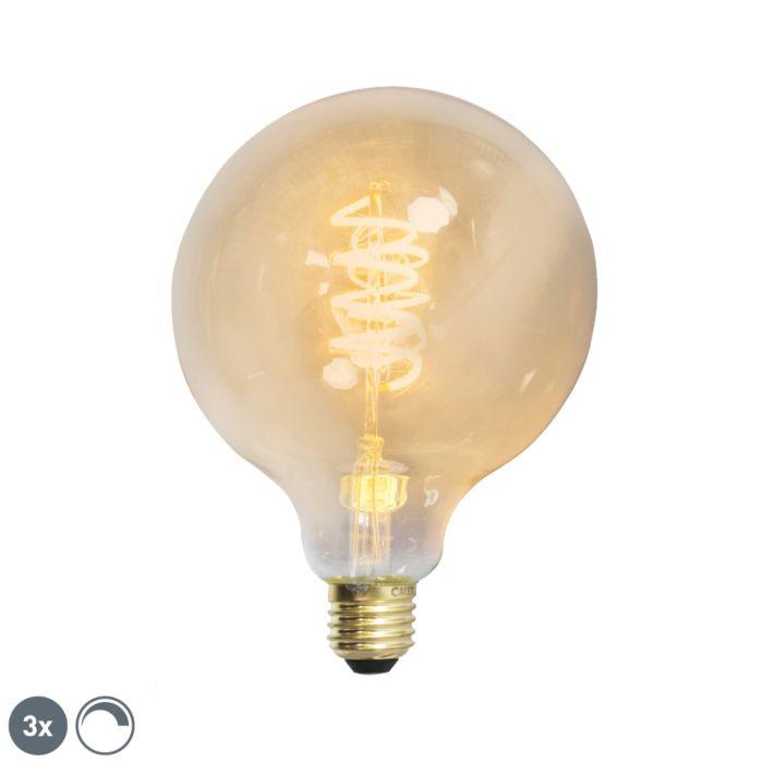 Set-di-3-filamenti-ritorti-a-LED-dimmerabili-E27-G125-goldline