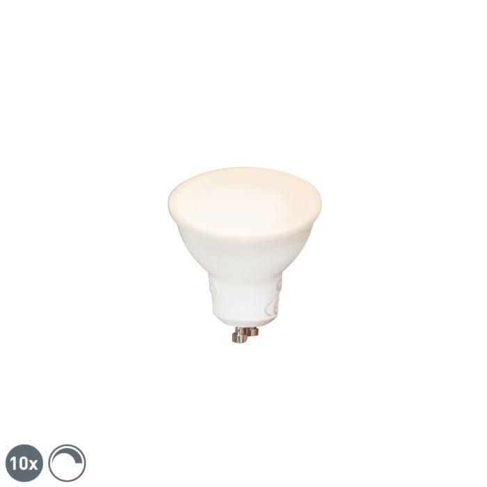 Set-di-10-lampade-LED-dimmerabili-GU10-6W-450-lm-2700K