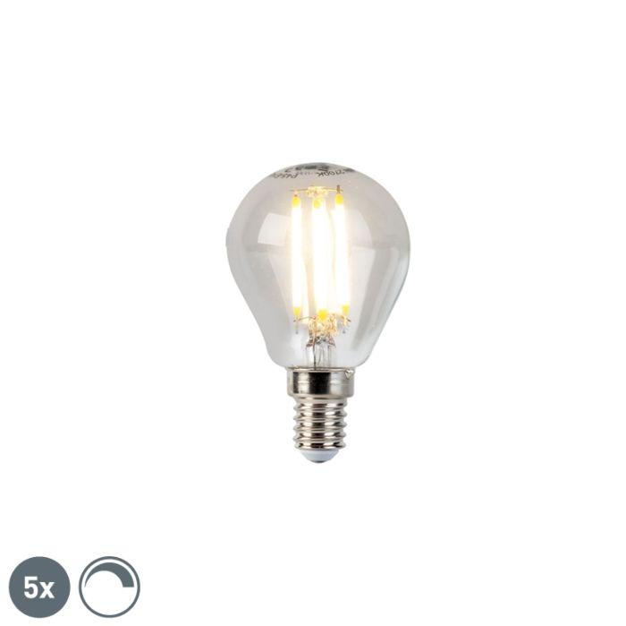 Set-di-5-lampade-a-sfera-dimmerabili-a-filamento-LED-E14-5W-470lm-2700K