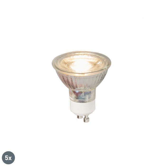 Set-di-5-lampade-a-LED-GU10-COB-5W-380LM-3000K