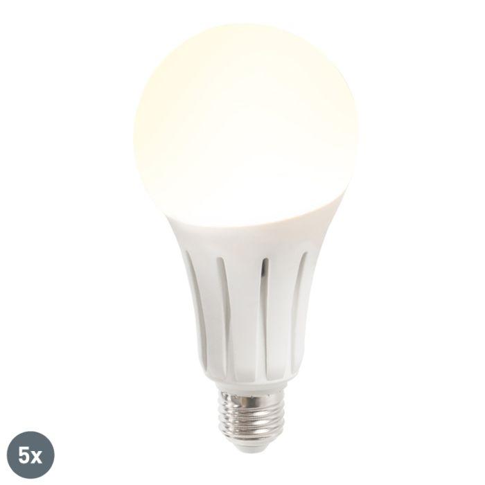 Set-di-5-lampadine-a-LED-B80-24W-E27-bianco-caldo