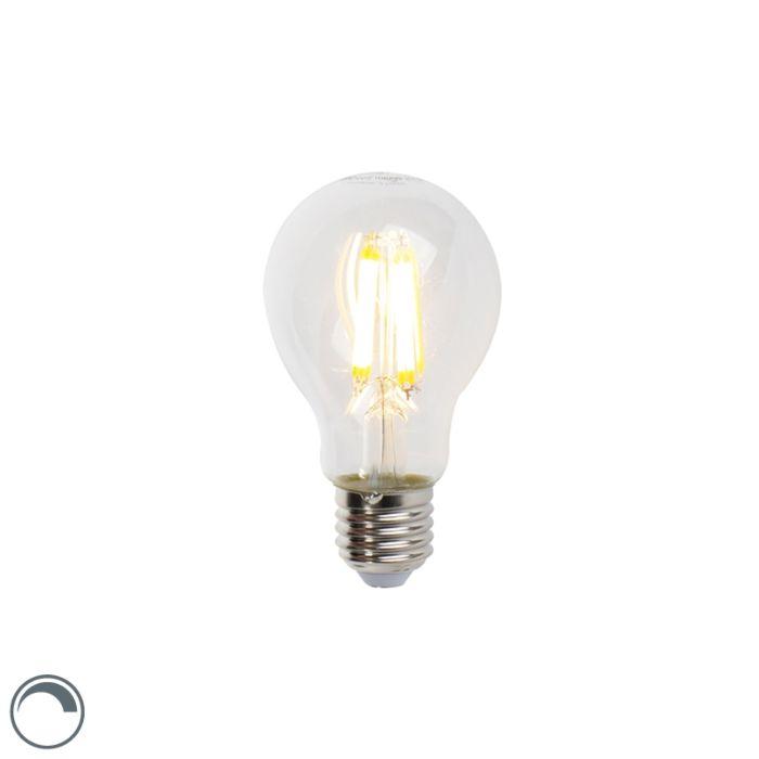 Lampada-a-filamento-LED-E27-7W-806lm-A60-dimmerabile-trasparente