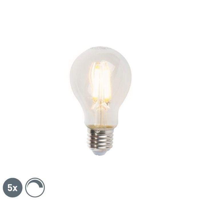 Set-di-5-lampade-a-filamento-LED-dimmerabili-E27-A60-7W-806lm-2700K