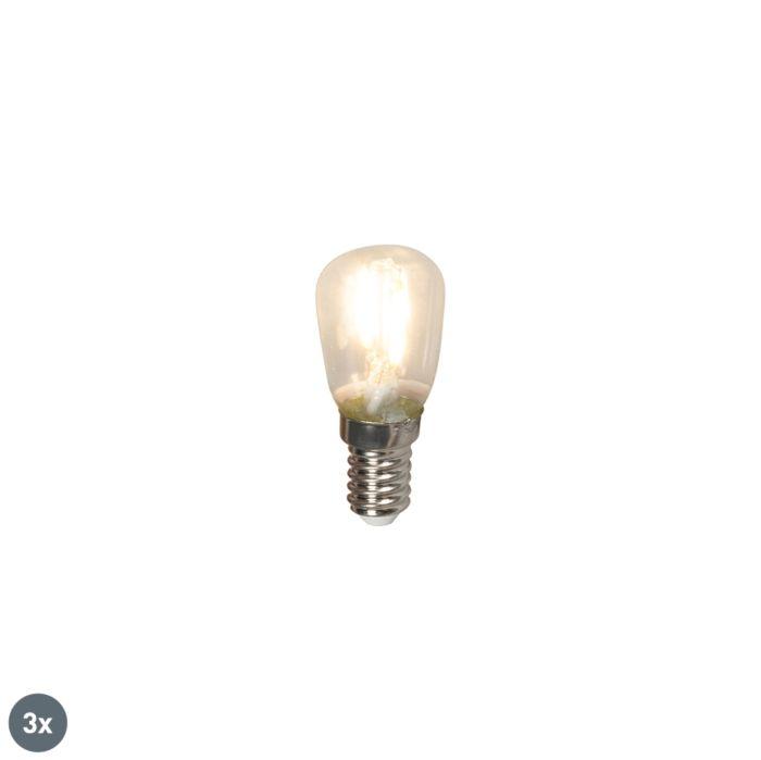 Set-di-3-lampade-per-centralino-a-filamento-LED-E14-T26-1W-100lm-2700-K