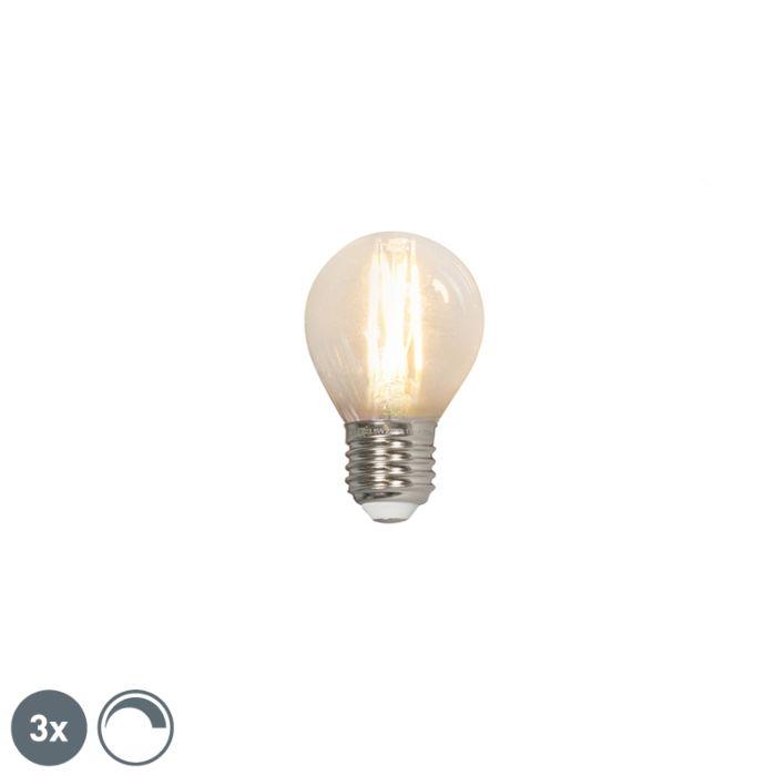 Set-di-3-lampade-a-sfera-a-filamento-LED-E27-240V-3,5W-350lm-P45-dimmerabili