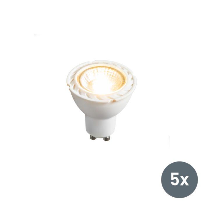 Set-di-5-lampadine-a-LED-GU10-240V-7W-2700K-dimmerabile