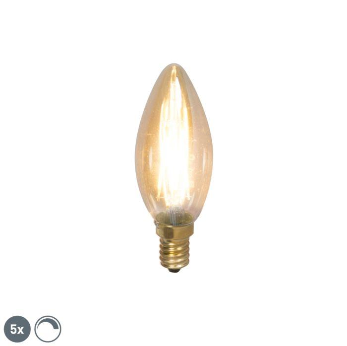 Set-di-5-candele-dimmerabili-a-filamento-LED-E14-200lm-2100-K.