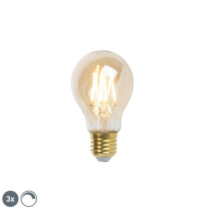 Set-di-3-lampade-a-filamento-LED-dimmerabili-E27-goldline-360lm-2200K
