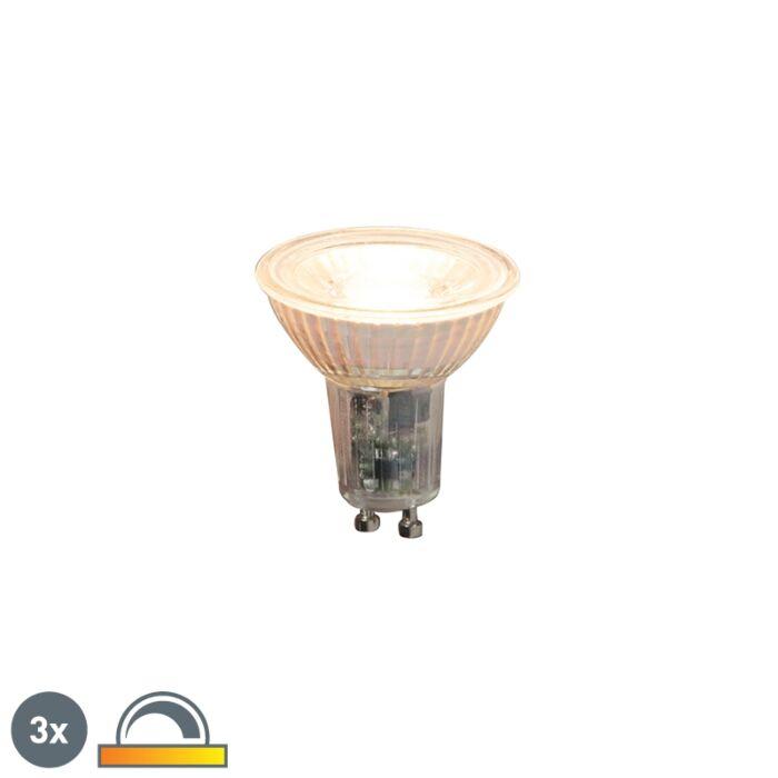 Set-di-3-lampade-a-LED-dimmerabili-GU10-5,5-W-360-lm-2000-K---2700-K