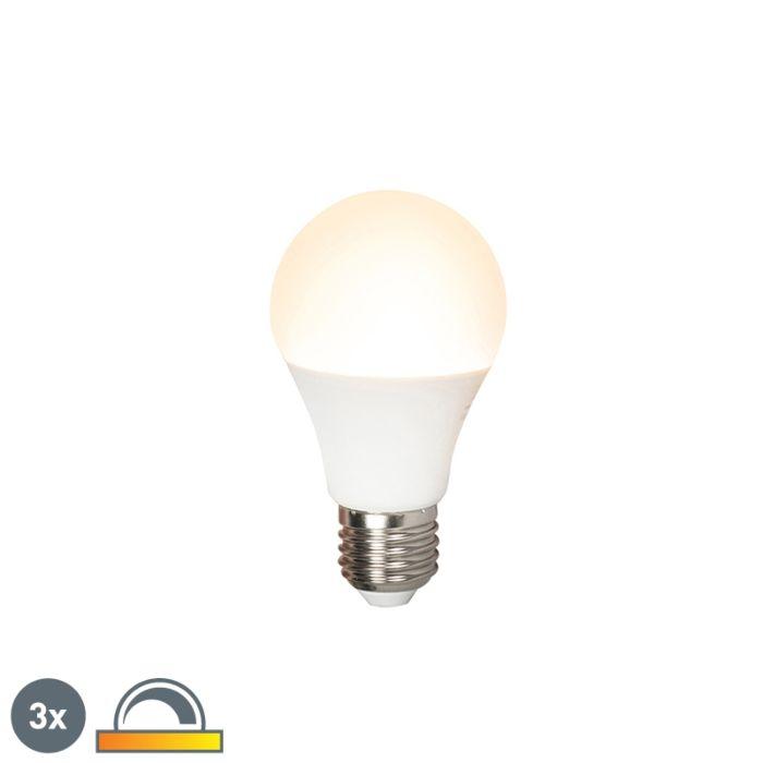 Set-di-3-lampade-a-LED-E27-240V-7W-510lm-A60-dimmerabili