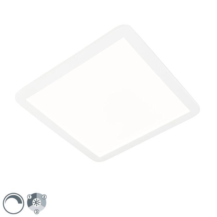 Lampada-da-soffitto-bianca-40-cm-incl.-LED-3-livelli-dimmerabile-IP44---Steve
