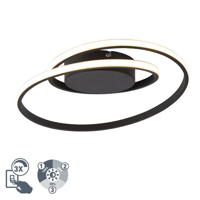 Plafoniera-design-nera-con-LED-dimmerabile-a-3-livelli---Krula