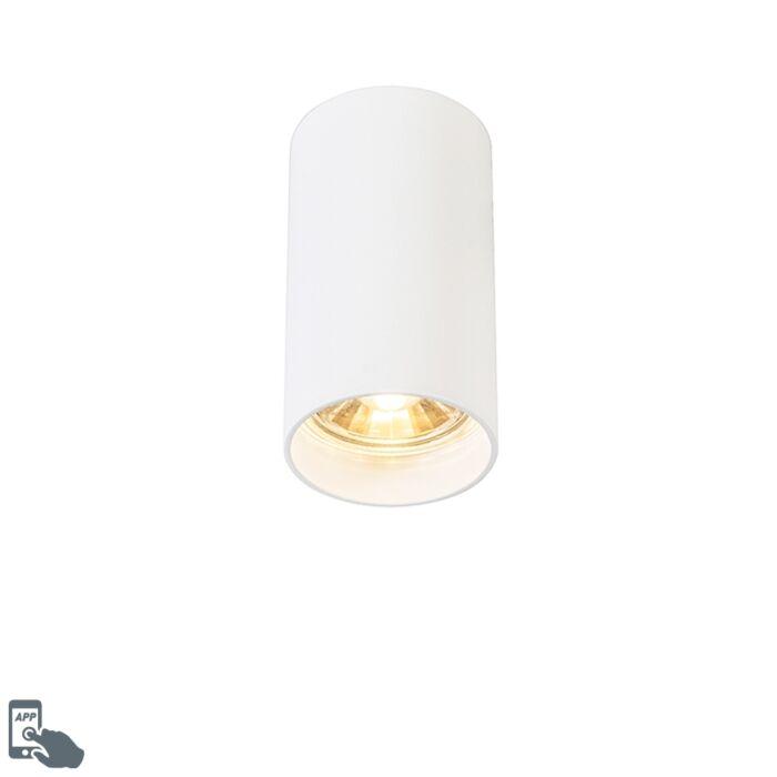 Smart-spot-moderno-bianco-con-sorgente-luminosa-WiFi-GU10---Tuba