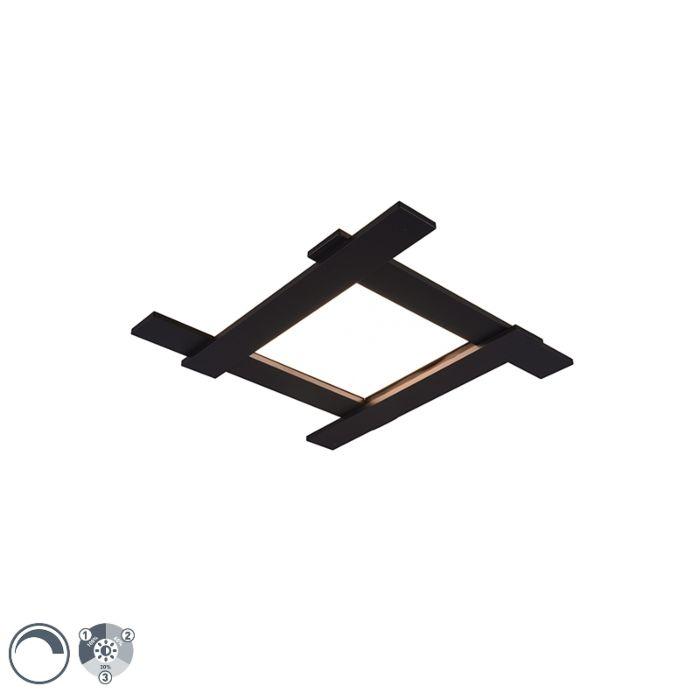 Plafoniera-moderna-nera-con-LED-a-3-livelli-dimmerabile-a-4-luci---Lisa