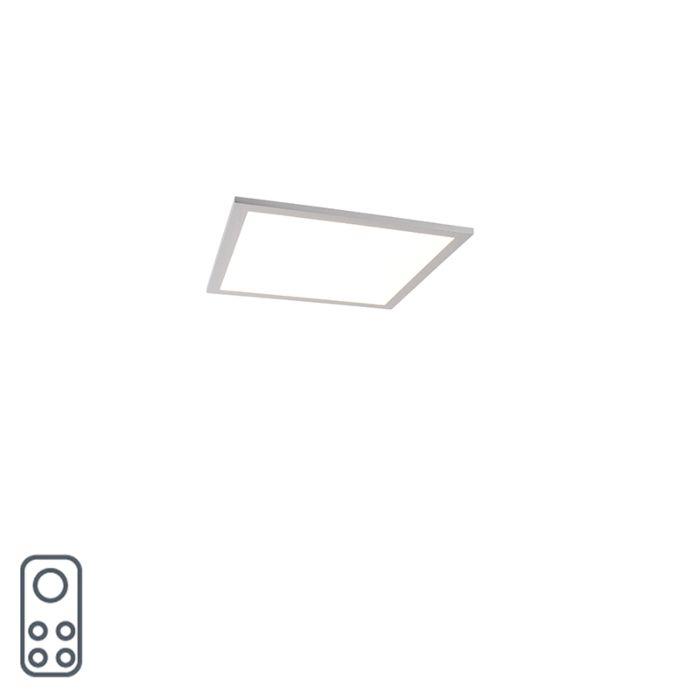 Lampada-da-soffitto-in-acciaio-40-cm-con-LED-e-telecomando---Liv