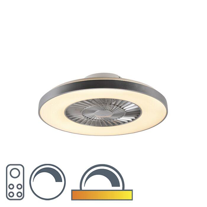 Ventilatore-da-soffitto-argento-con-effetto-stella-dimmerabile---Climo