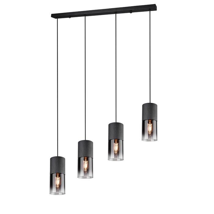 Lampada-a-sospensione-moderna-nera-a-4-luci---Huygen