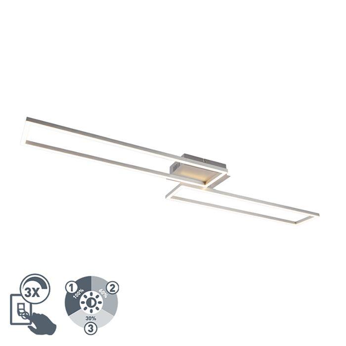 Lampada-da-soffitto-in-acciaio-con-LED-a-3-livelli-dimmerabile---Plazas-Novo