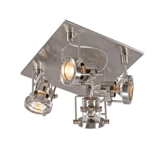Faretto-'Suplux-4'-industriale-acciaio---adatto-per-LED-/-interno