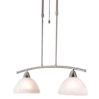 Lampada-a-sospensione-con-regolatore-'Firenze-2'-classico-acciaio---interna