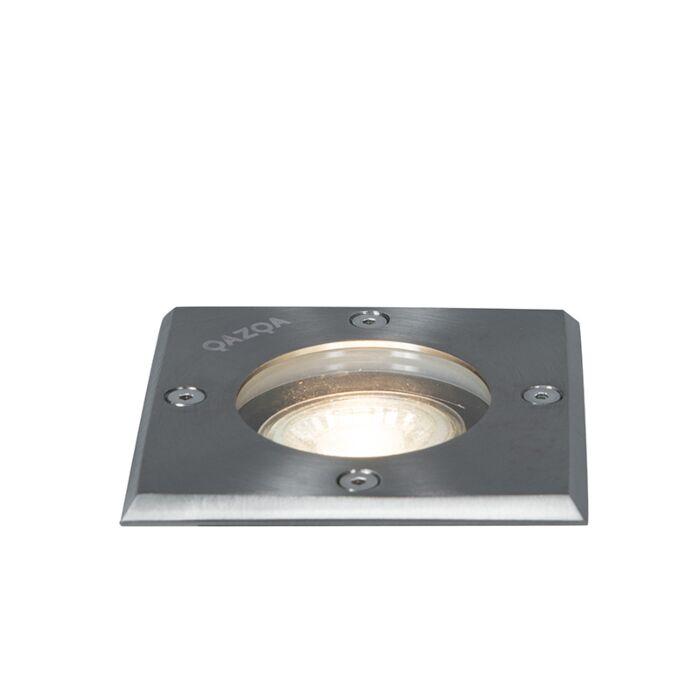 Spot-da-terra-in-acciaio-10,5-cm-IP65---Basic-Square