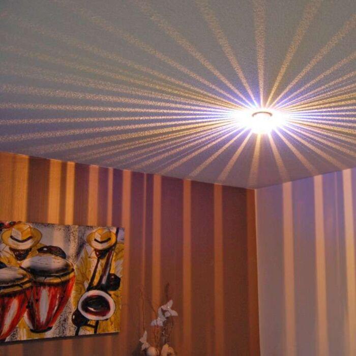 Lampada-da-soffitto/parete-'Altea'-moderna-acciaio---adatta-per-LED-/-interna