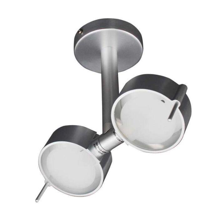 Plafoniera-'Eye-2'-design-alluminio---adatta-per-LED-/-interna