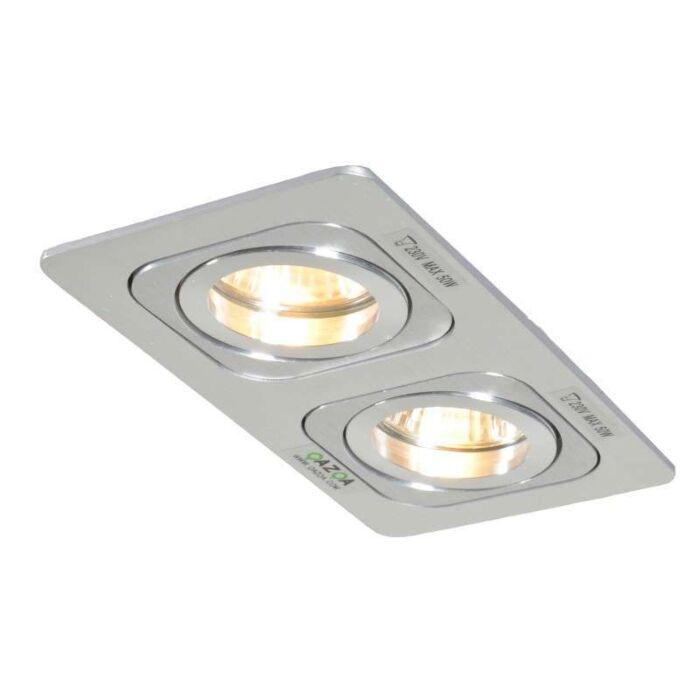Faretto-da-incasso-grande-'Random-2'-design-alluminio---adatto-per-LED-/-interno