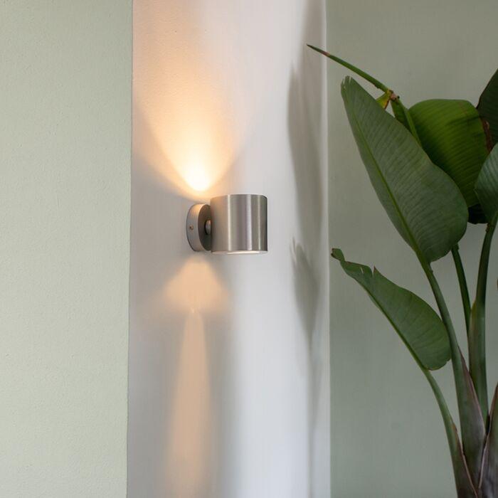 Lampada-da-parete-moderna-in-alluminio-tonda---Effetto