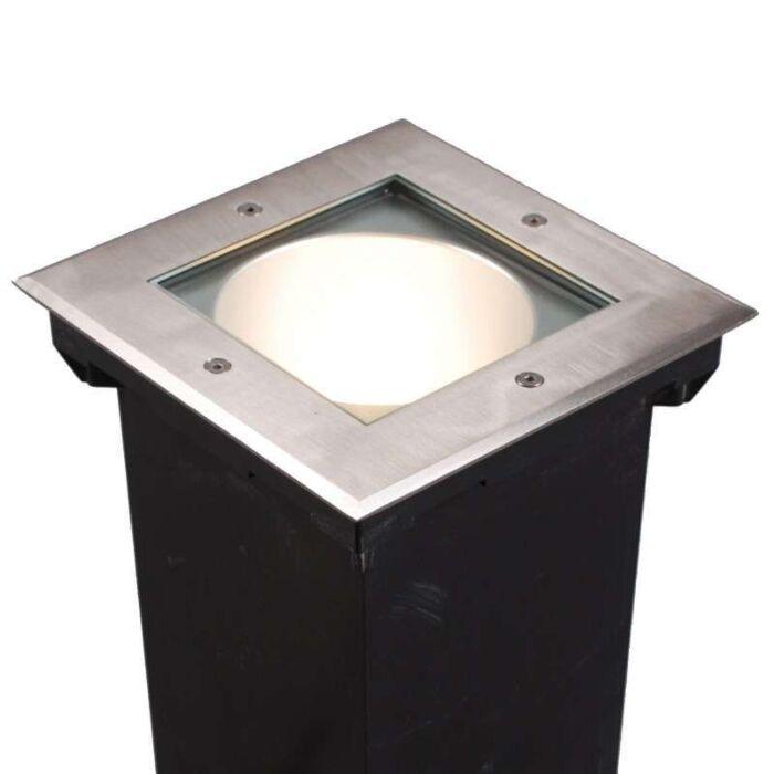 Faretto-da-incasso-da-terra-'Norfolk-Q'-moderno-acciaio-inossidabile---adatto-per-LED-/-esterno