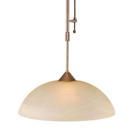 Lampada-a-sospensione-con-regolatore-'Milano-40'-classico-bronzo/vetro---adatta-per-LED-/-interna