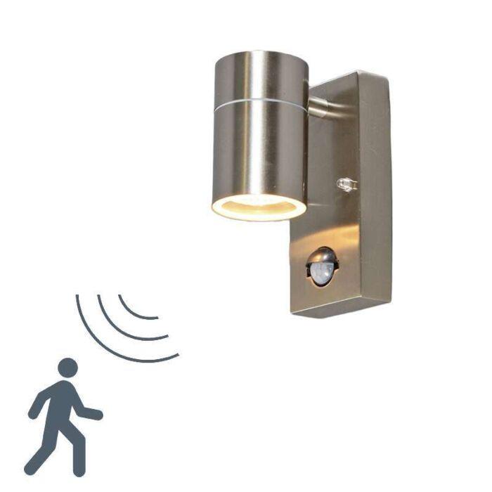 Applique-con-sensore-SOLO-acciaio