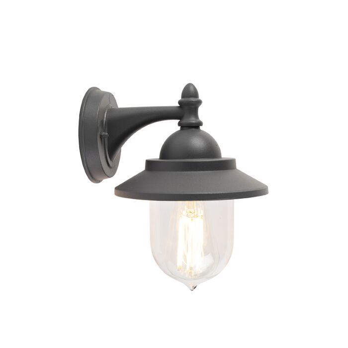 Romantica-lampada-da-parete-per-esterno-grigio-scuro---Oxford