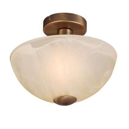 Plafoniera-'Milano-30'-classico-bronzo/vetro---adatta-per-LED-/-interna