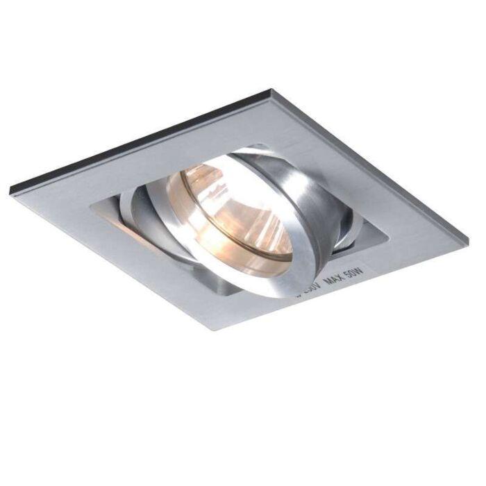Faretto-da-incasso-'Quadro-1'-design-alluminio---adatto-per-LED-/-interno