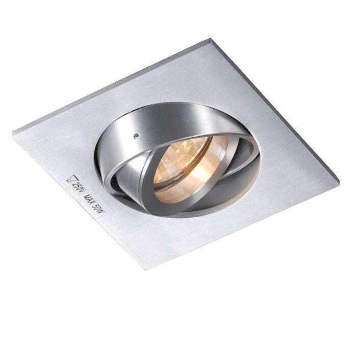 Faretto-da-incasso-'Club-Q'-design-alluminio---adatto-per-LED-/-interno