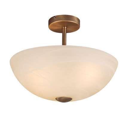 Plafoniera-'Milano-40'-classico-bronzo/vetro---adatta-per-LED-/-interna
