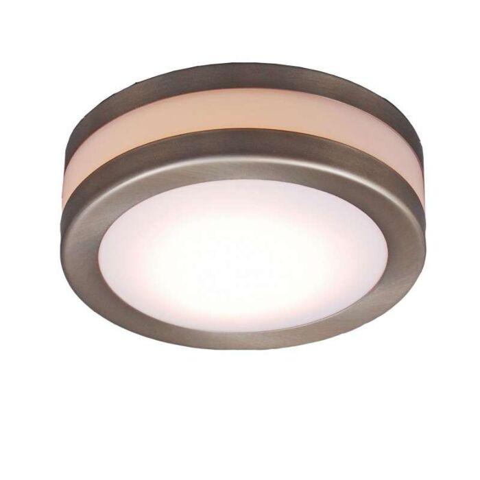 Plafoniera-'Yuma-14'-moderna-acciaio-inossidabile---adatta-per-LED-/-esterna,-interna,-bagno