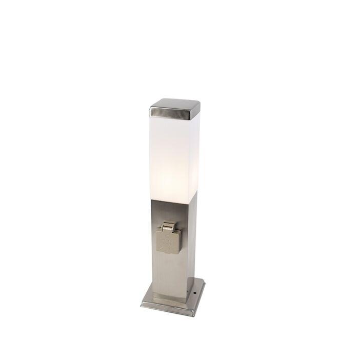 Lampada-da-esterno-moderna-in-acciaio-45-cm-con-attacco-IP44---Malios