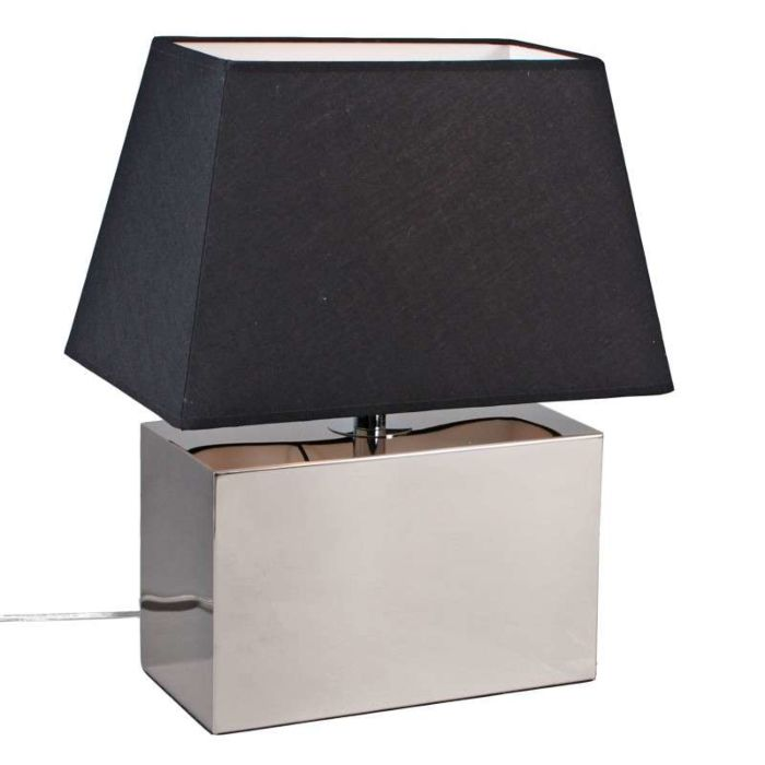 Lampada-da-tavolo-con-paralume-'Ferrara-2'-design-cromo---adatta-per-LED-/-interna
