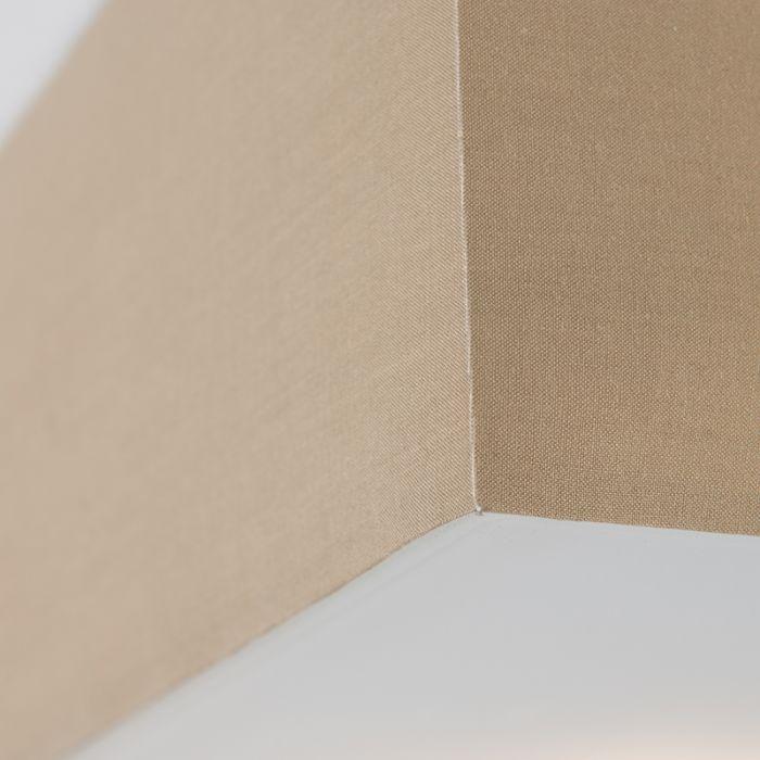 Plafoniera-con-paralume-'Drum-35-Q'-moderna-beige/tessuto---adatta-per-LED-/-interna