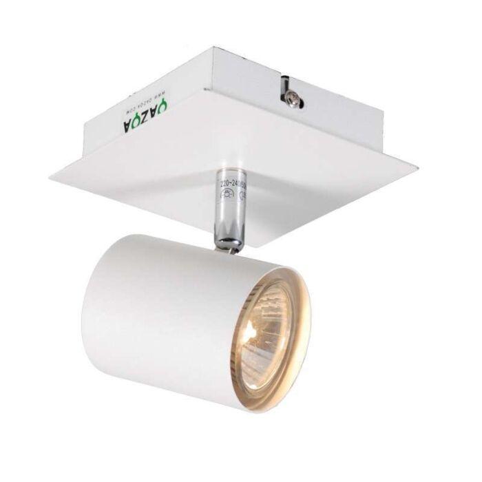 Faretto-'Attractive-1'-moderno-blanco/metallo---adatto-per-LED-/-interno