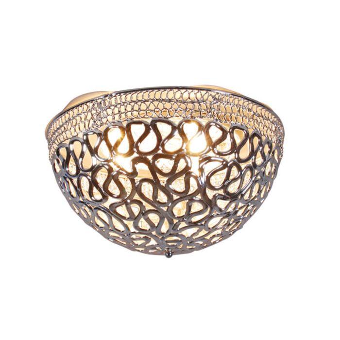 Plafoniera-'Pharaoh-50'-moderna-cromo/plastica---adatta-per-LED-/-interna