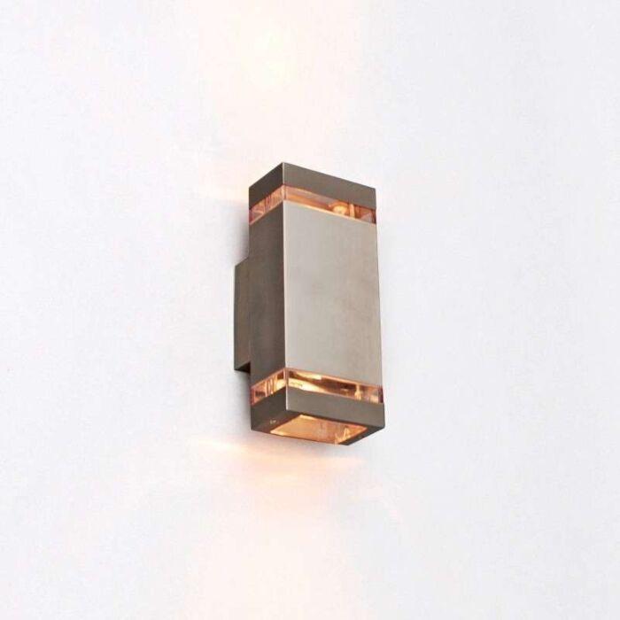 Applique-'Montana-2'-moderno-acciaio-inossidabile---adatto-per-LED-/-esterno