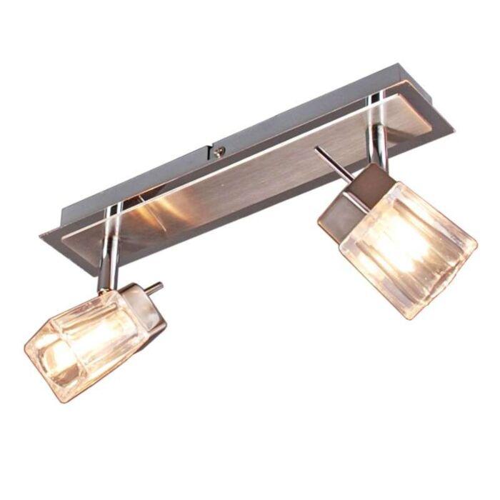 Faretto-'Livo-2'-design-cromo---adatto-per-LED-/-interno