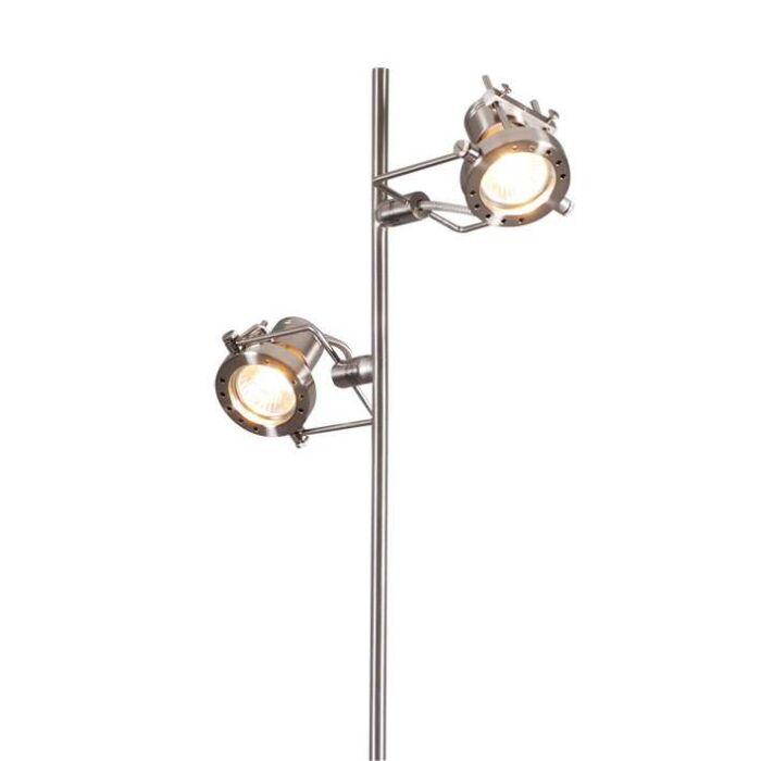 Lampada-da-terra-'Suplux-2'-moderna-acciaio---adatta-per-LED-/-interna